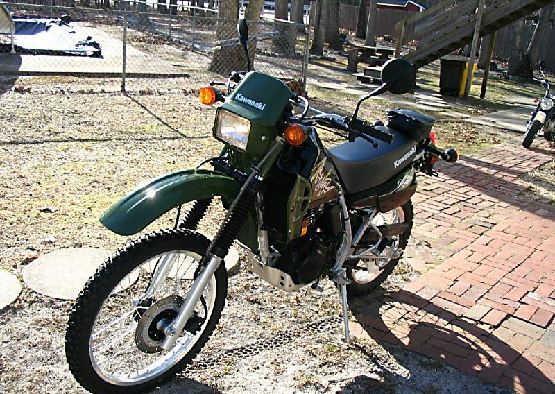 KAWASAKI KLR 250 brown