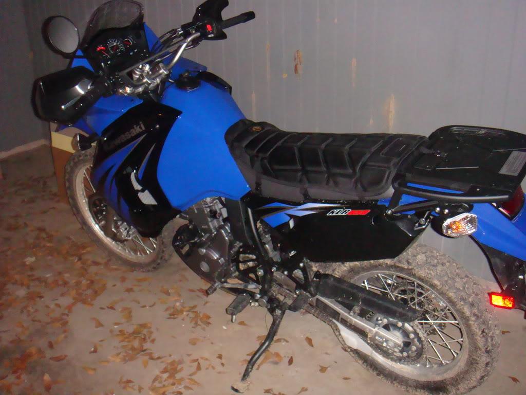 KAWASAKI KLR blue