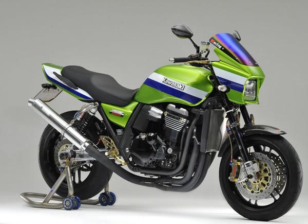KAWASAKI ZRX 1200 green