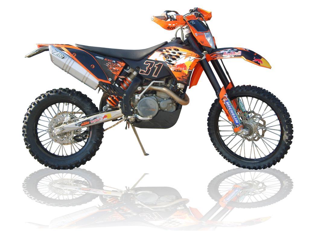 KTM EXC 400 silver