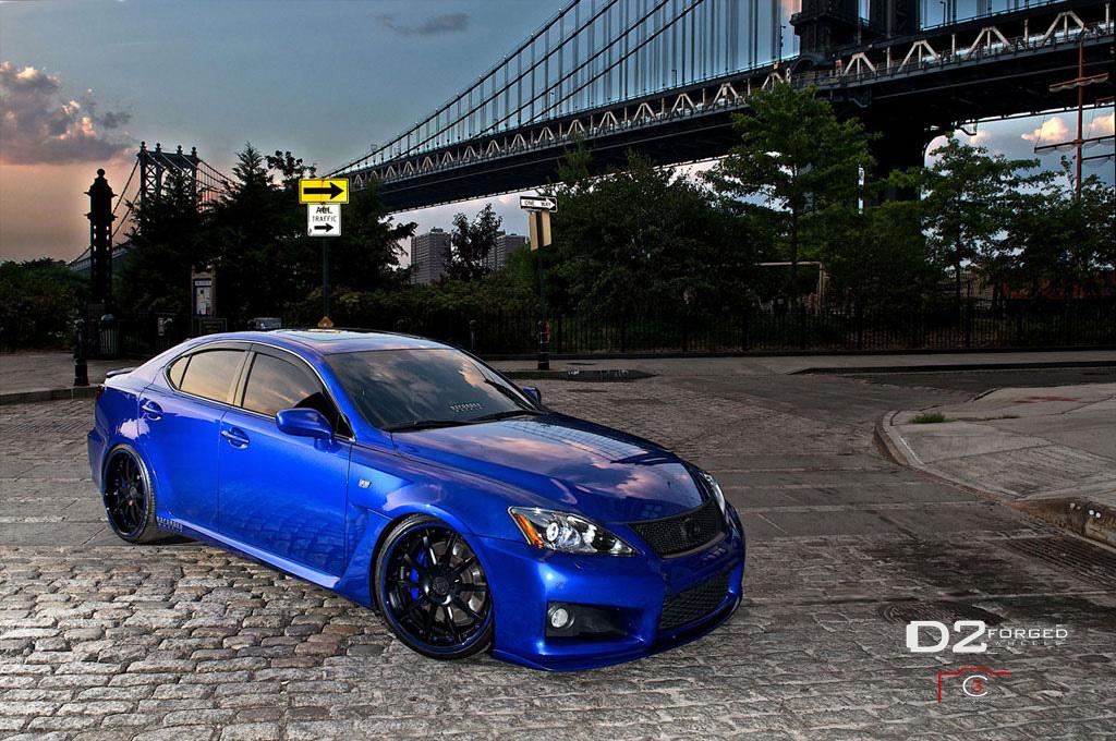 LEXUS IS F blue