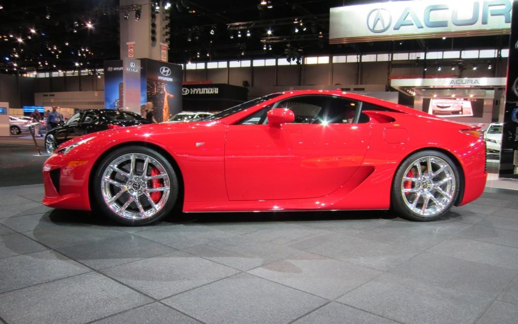 LEXUS LF-A red