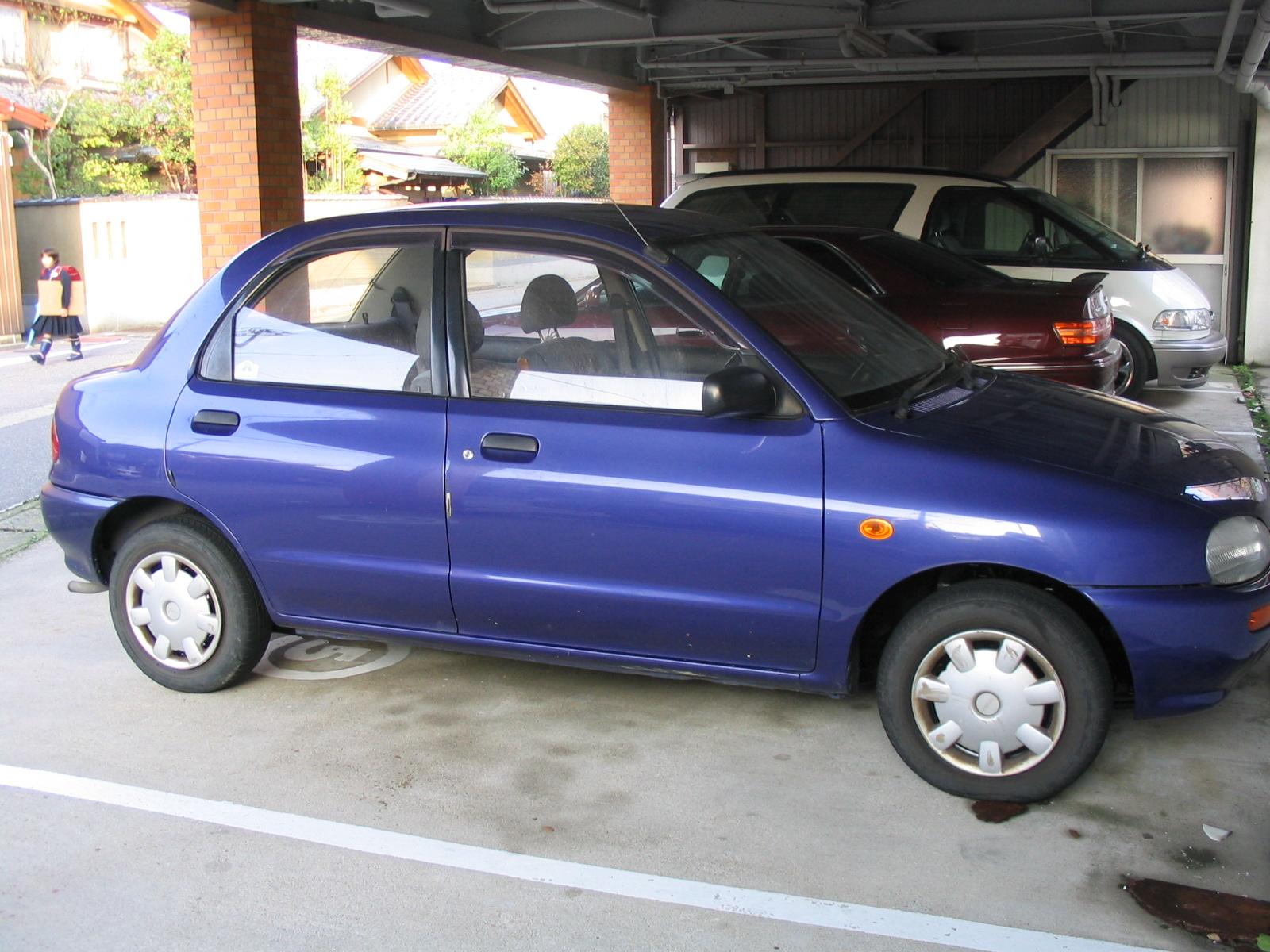 MAZDA 121 blue
