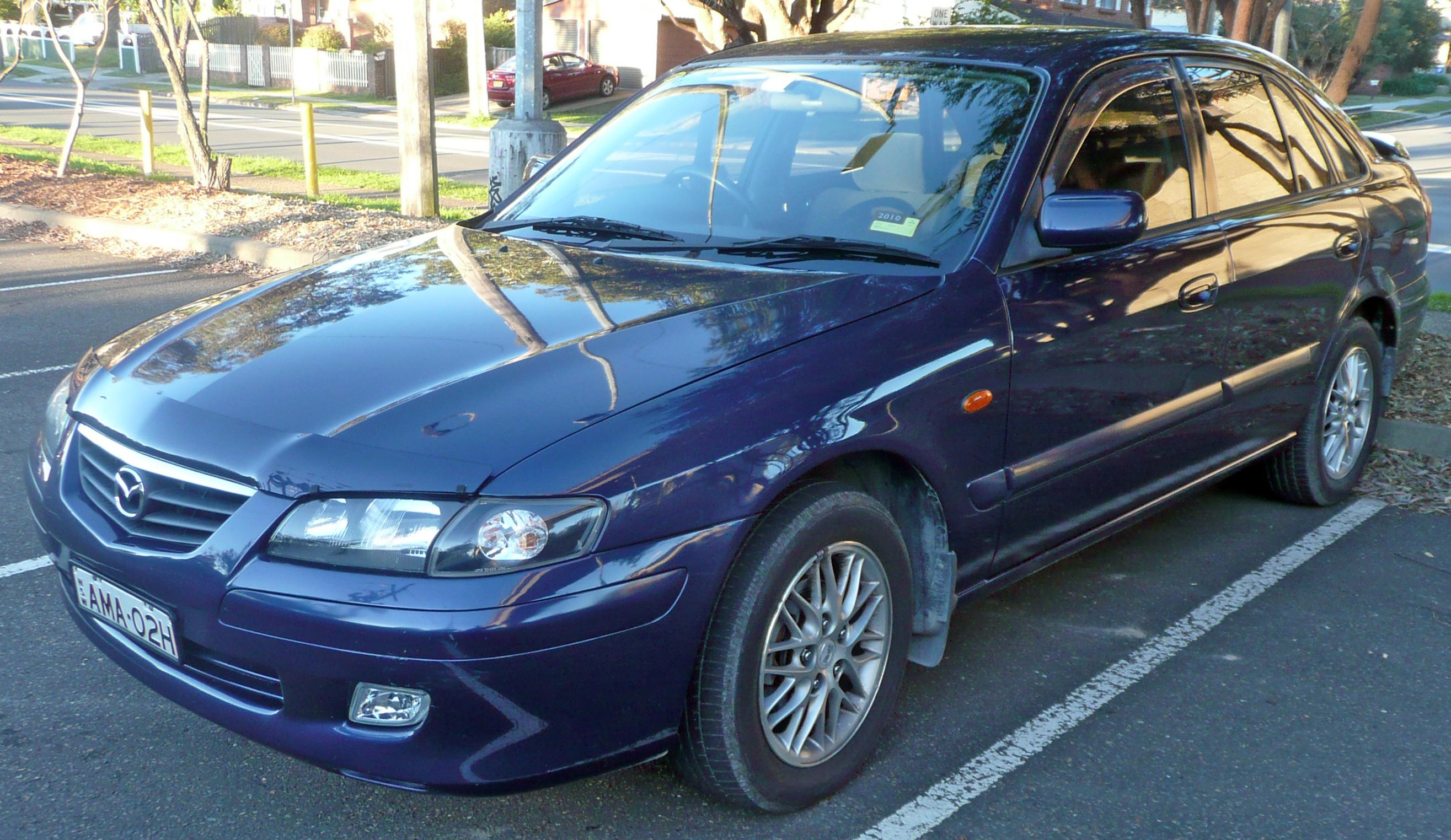 MAZDA 626 blue