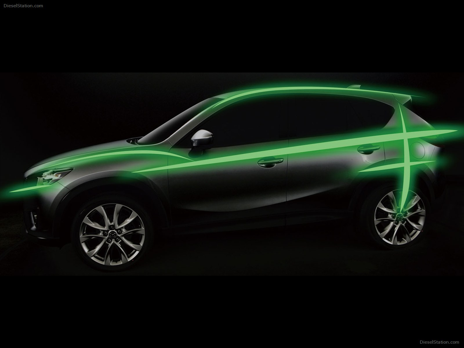 MAZDA CX-5 AT green