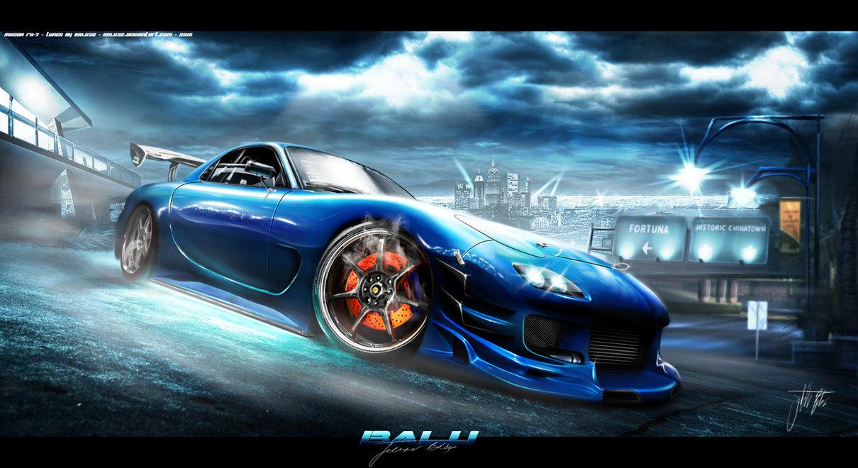 MAZDA RX-7 blue