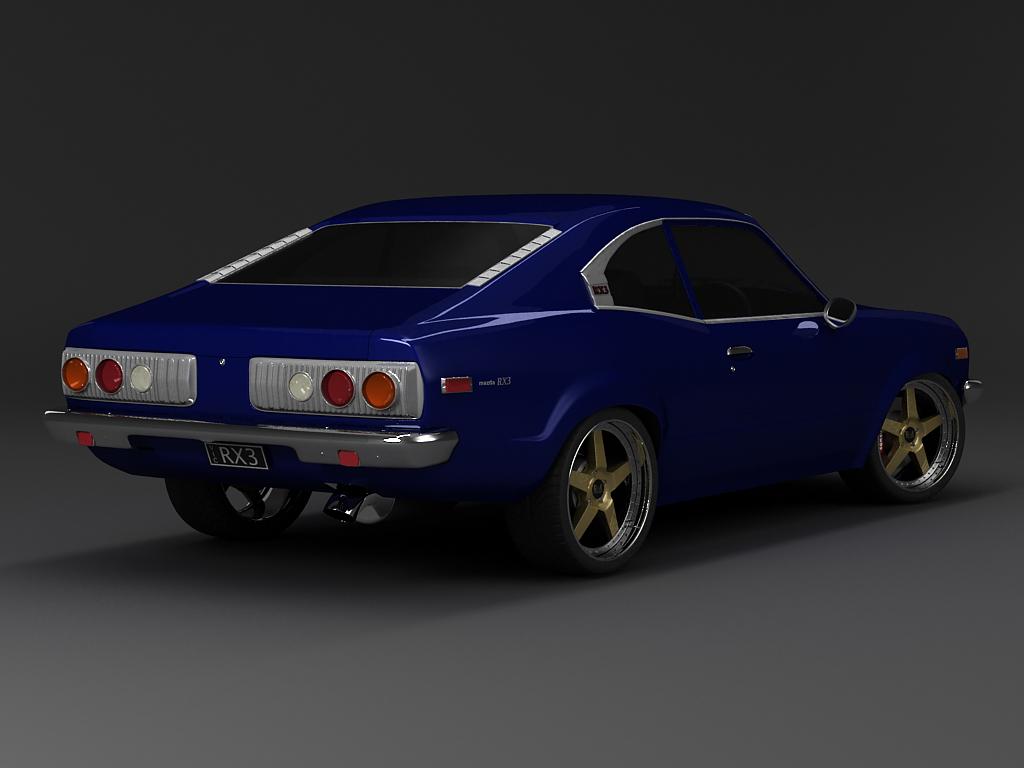 MAZDA RX3 blue