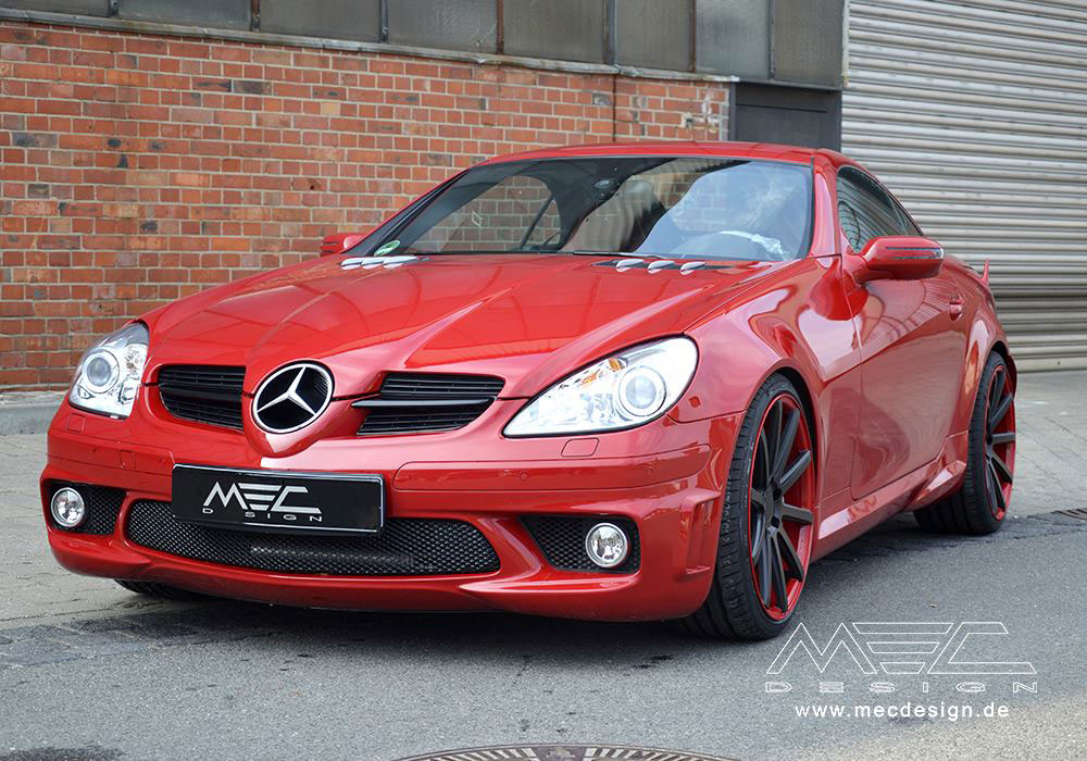 MERCEDES-BENZ CL 55 AMG red