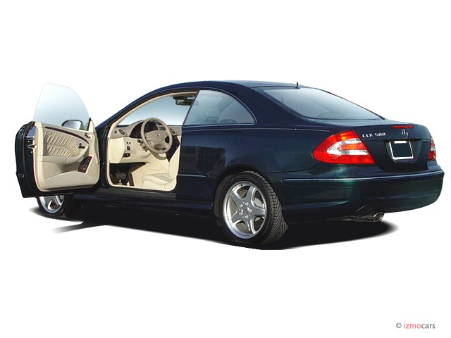 MERCEDES-BENZ CLK blue