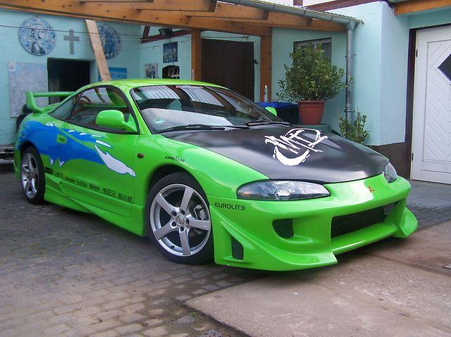 MITSUBISHI ECLIPSE green