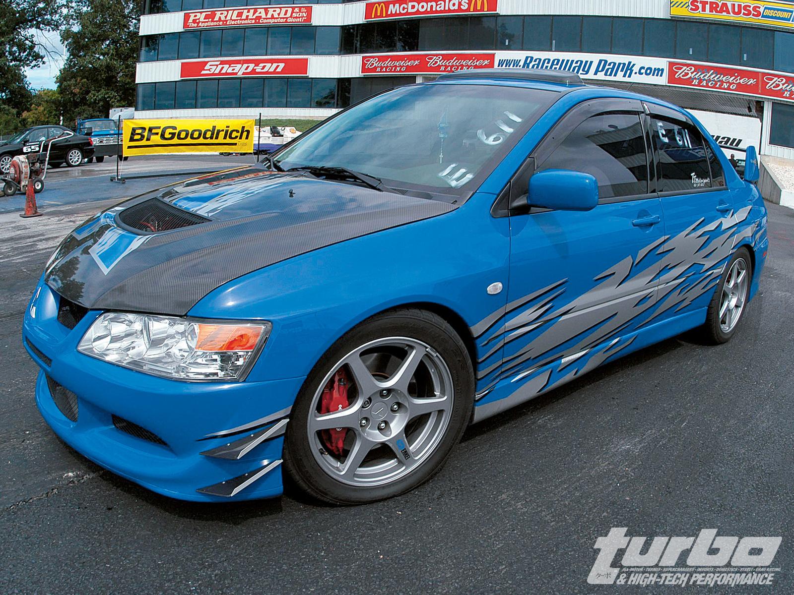 MITSUBISHI EVO blue