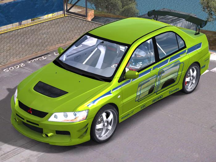 MITSUBISHI LANCER EVOLUTION green