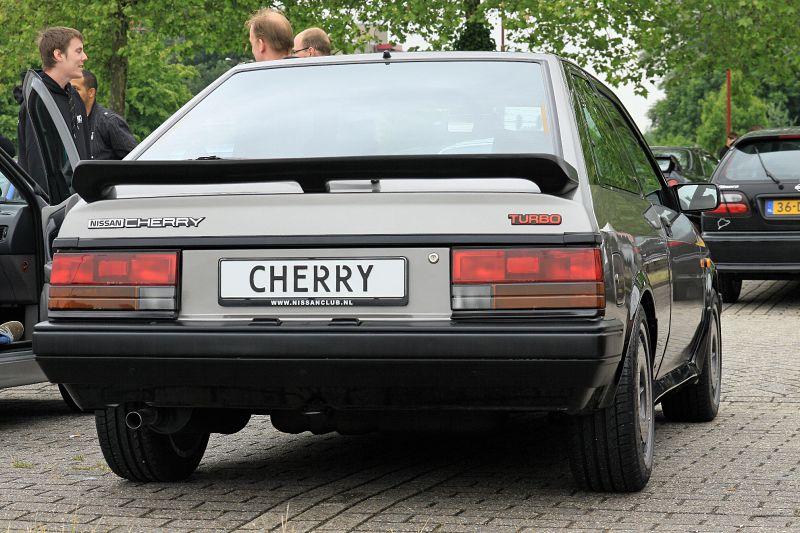 NISSAN CHERRY TURBO red