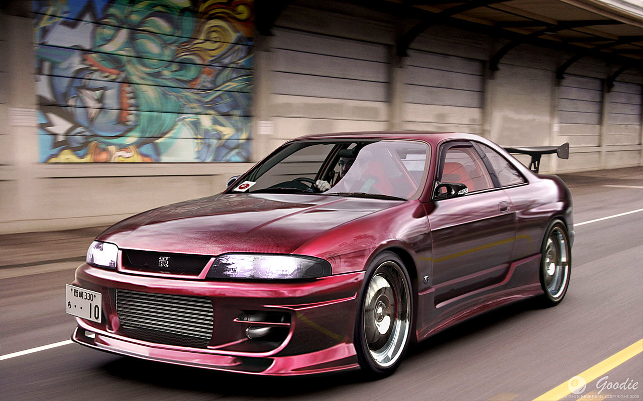 NISSAN R33 red
