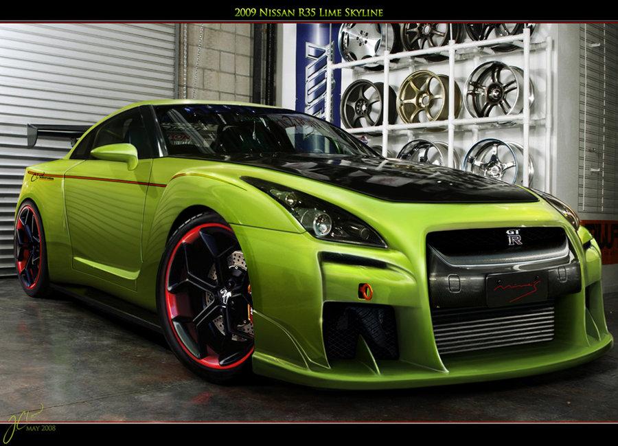 NISSAN SKYLINE green