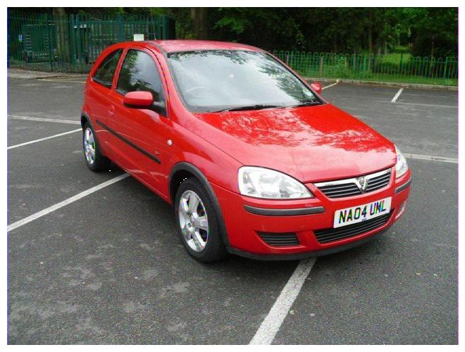 OPEL CORSA 1.0 red