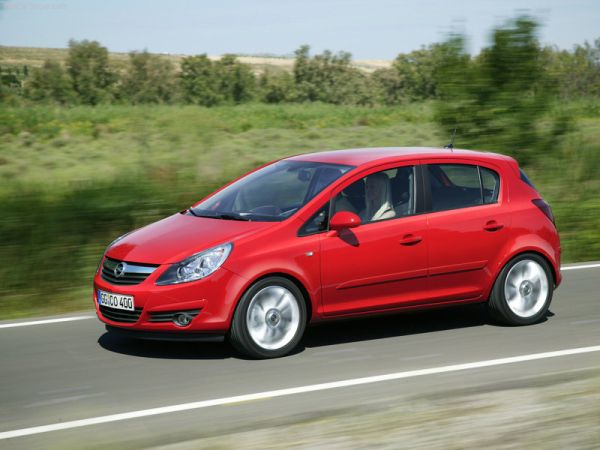 OPEL CORSA red