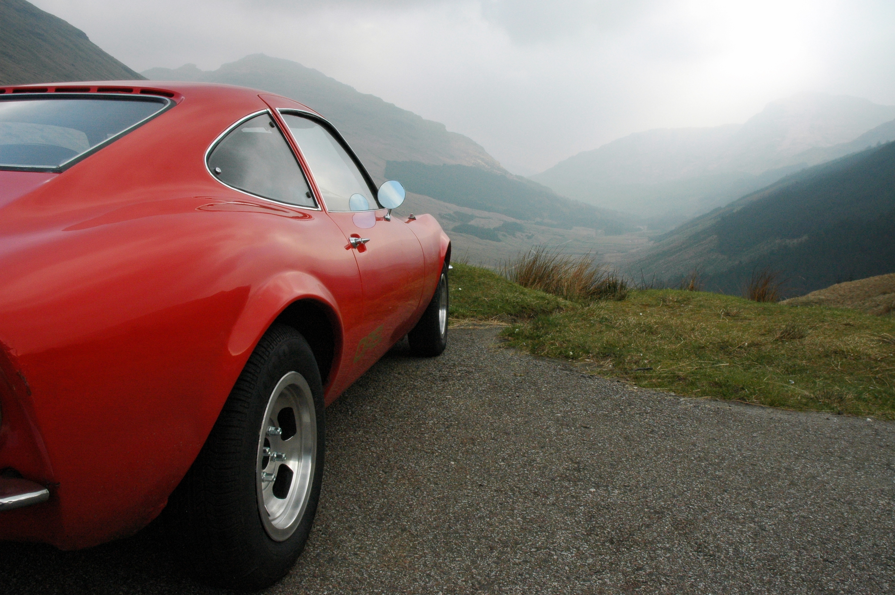 1971 OPEL GT IN SCOTTISH HIGLANDS BY DAN MIDDLETON