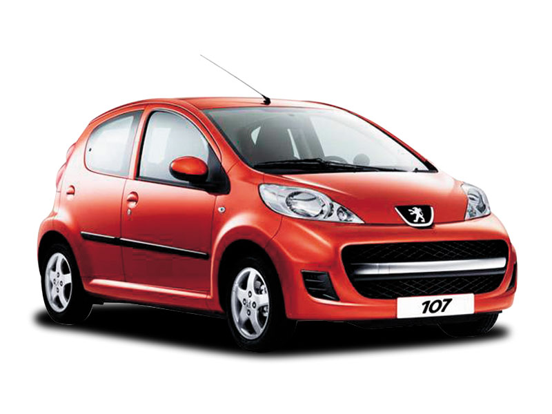 PEUGEOT 107 red