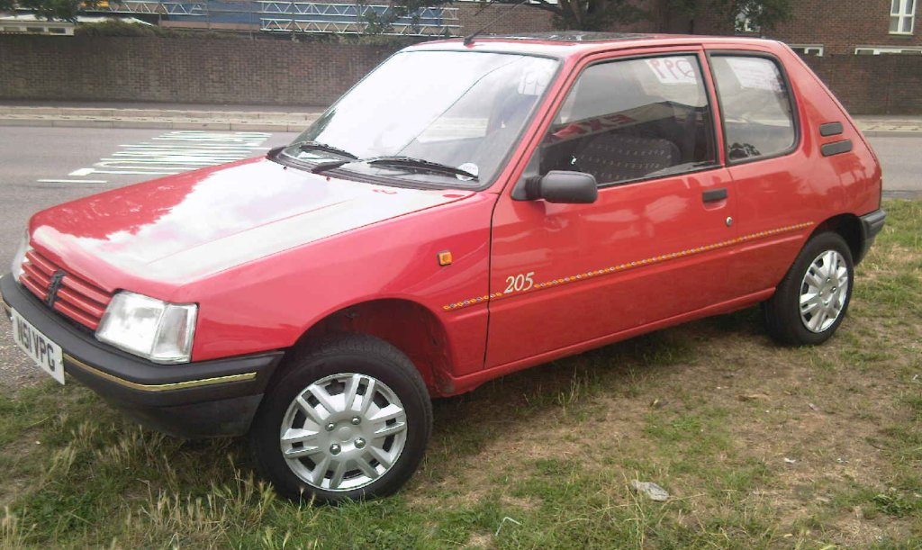 PEUGEOT 205 red
