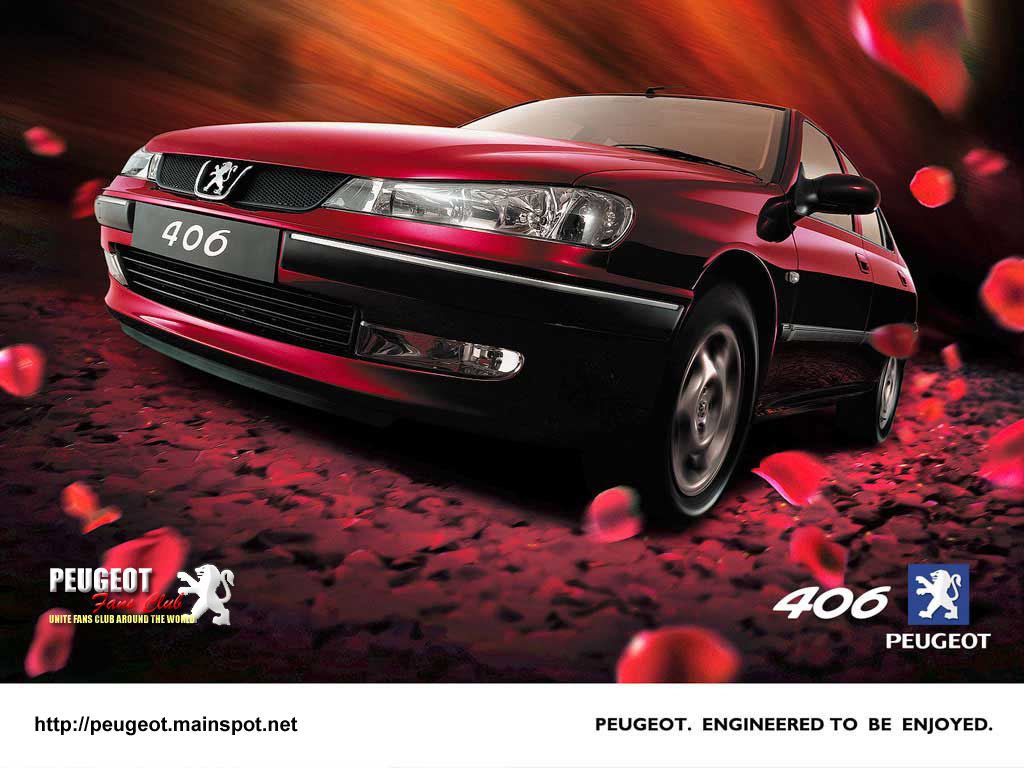 PEUGEOT 406 red