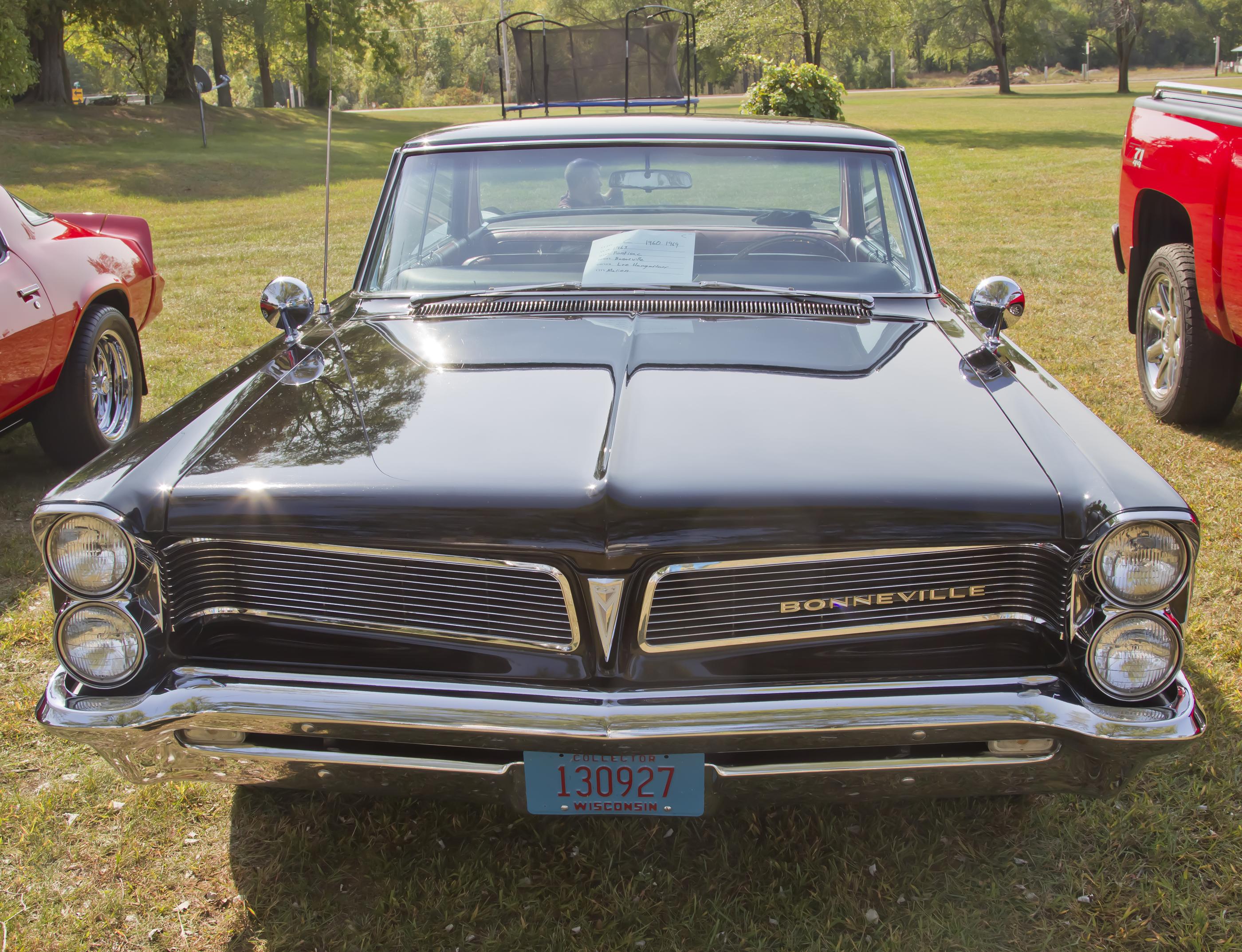 1963 BLACK PONTIAC BONNEVILLE FRONT VIEW BY MYBAITSHOP
