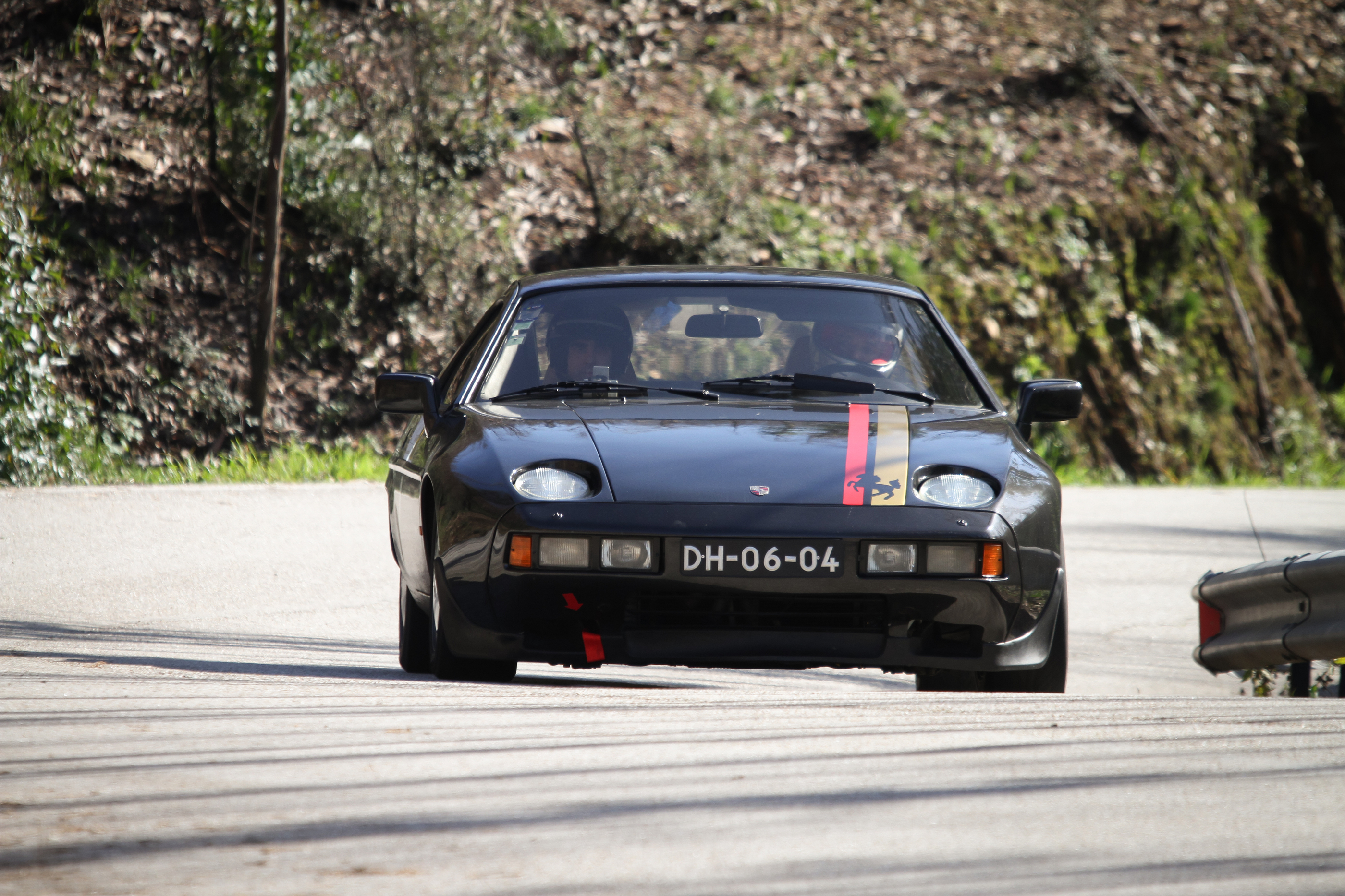 LEIRIA, PORTUGAL - FEBRUARY 2: LUIS CAXEIRO DRIVES A PORSCHE 928 S DURING 2013 AMATEUR WINTER RALLY, BY COISAX
