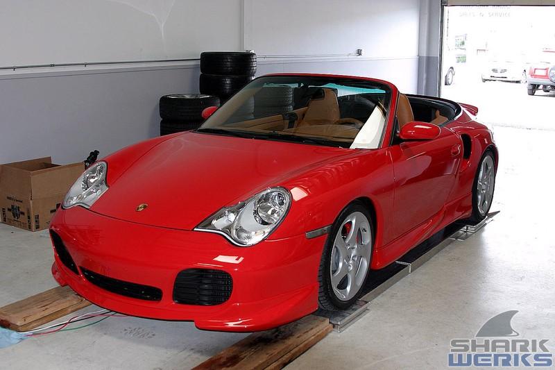 PORSCHE 996 CABRIOLET red