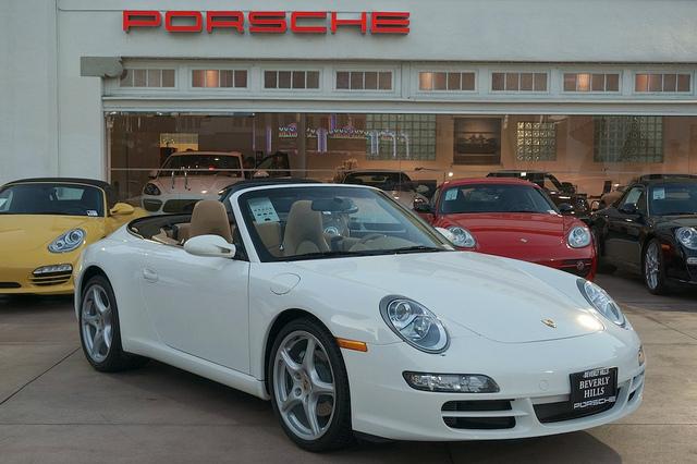 PORSCHE 996 CABRIOLET white