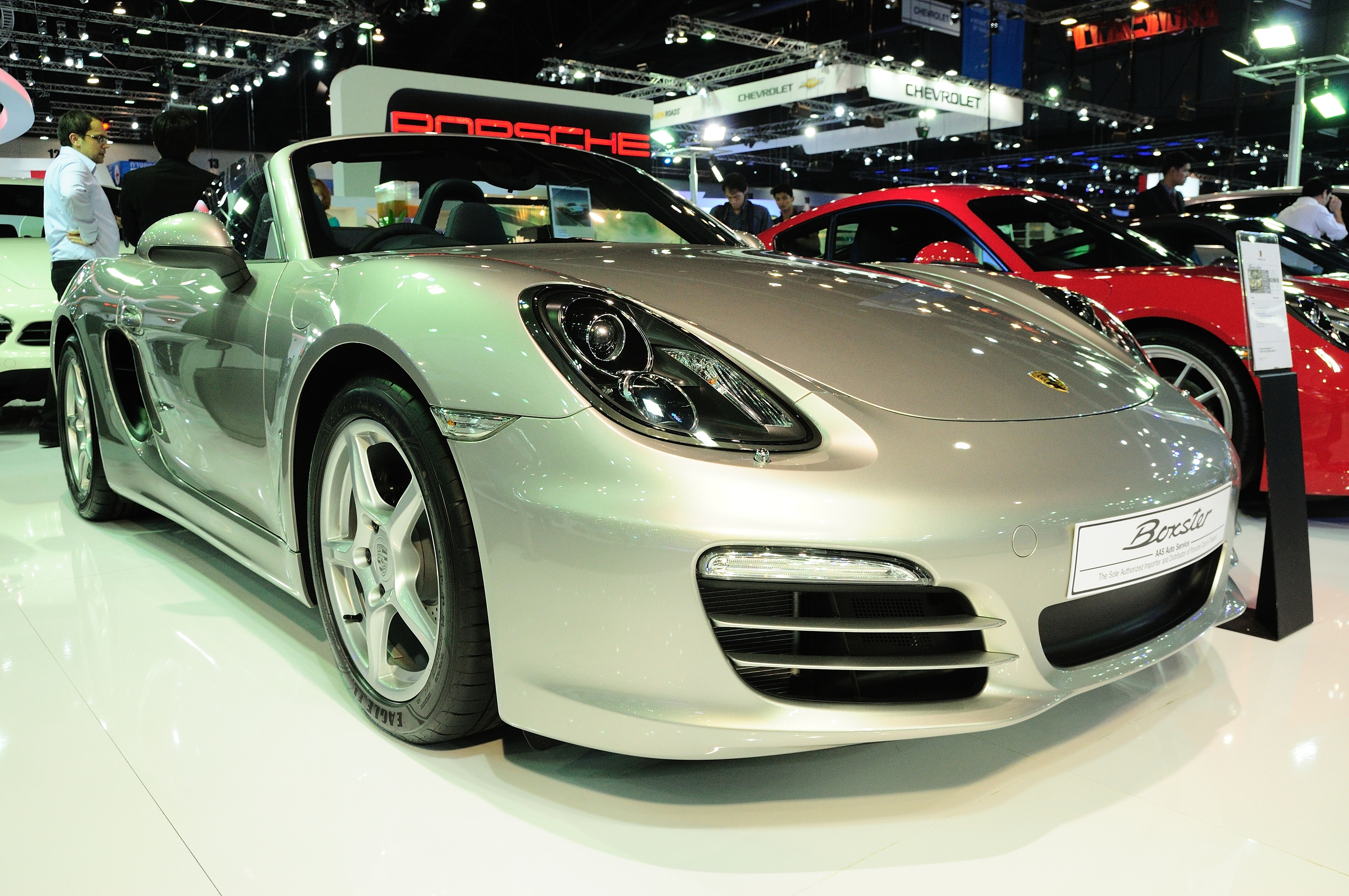BKK - NOV 28: PORSCHE BOXSTER ON DISPLAY AT THAILAND INTERNATIONAL MOTOR EXPO 2013 ON NOV 28, 2013 I BY THAMPAPON1