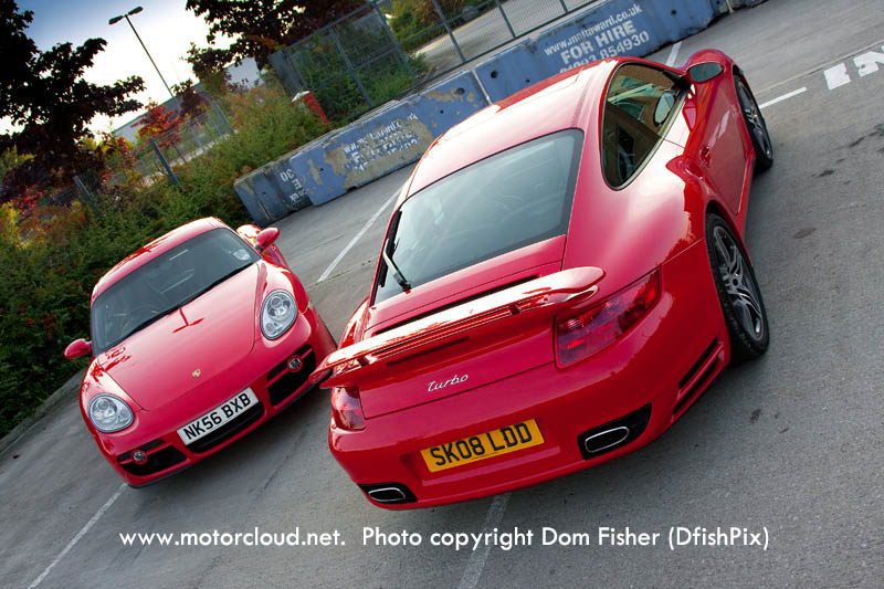 PORSCHE CAYMAN 2.7 red