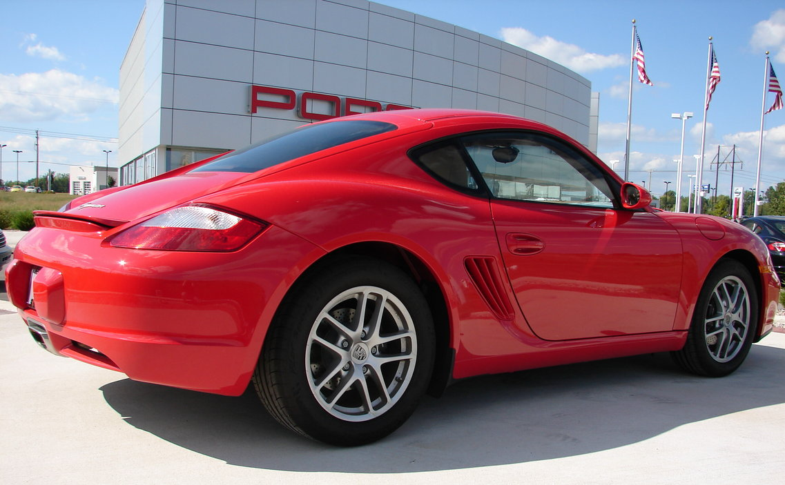 PORSCHE CAYMAN red