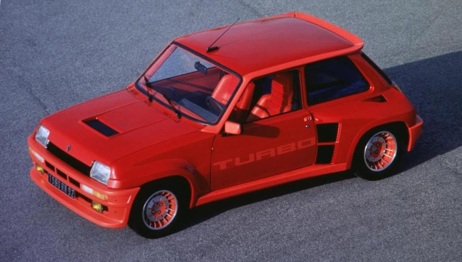 RENAULT 5 TURBO red