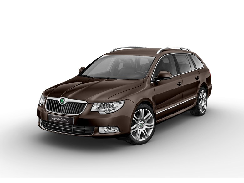 SKODA SUPERB brown