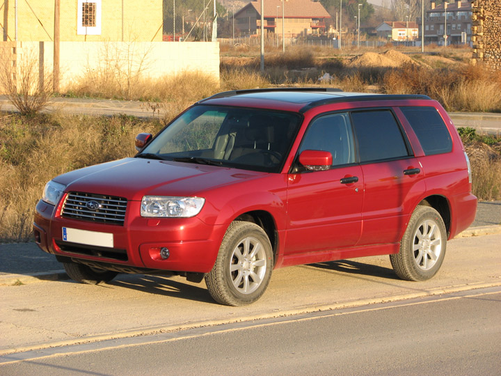 SUBARU FORESTER red