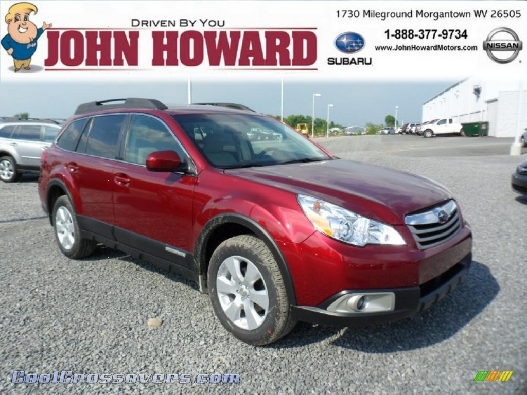 SUBARU OUTBACK 2.5 AT red