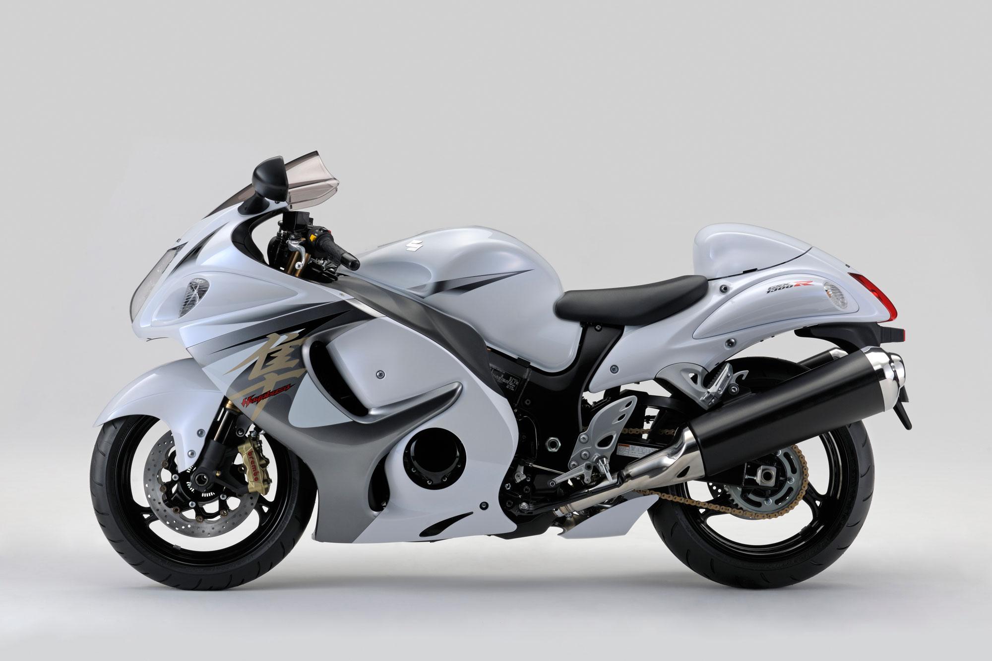 Suzuki gsx 1300 white suzuki hayabusa