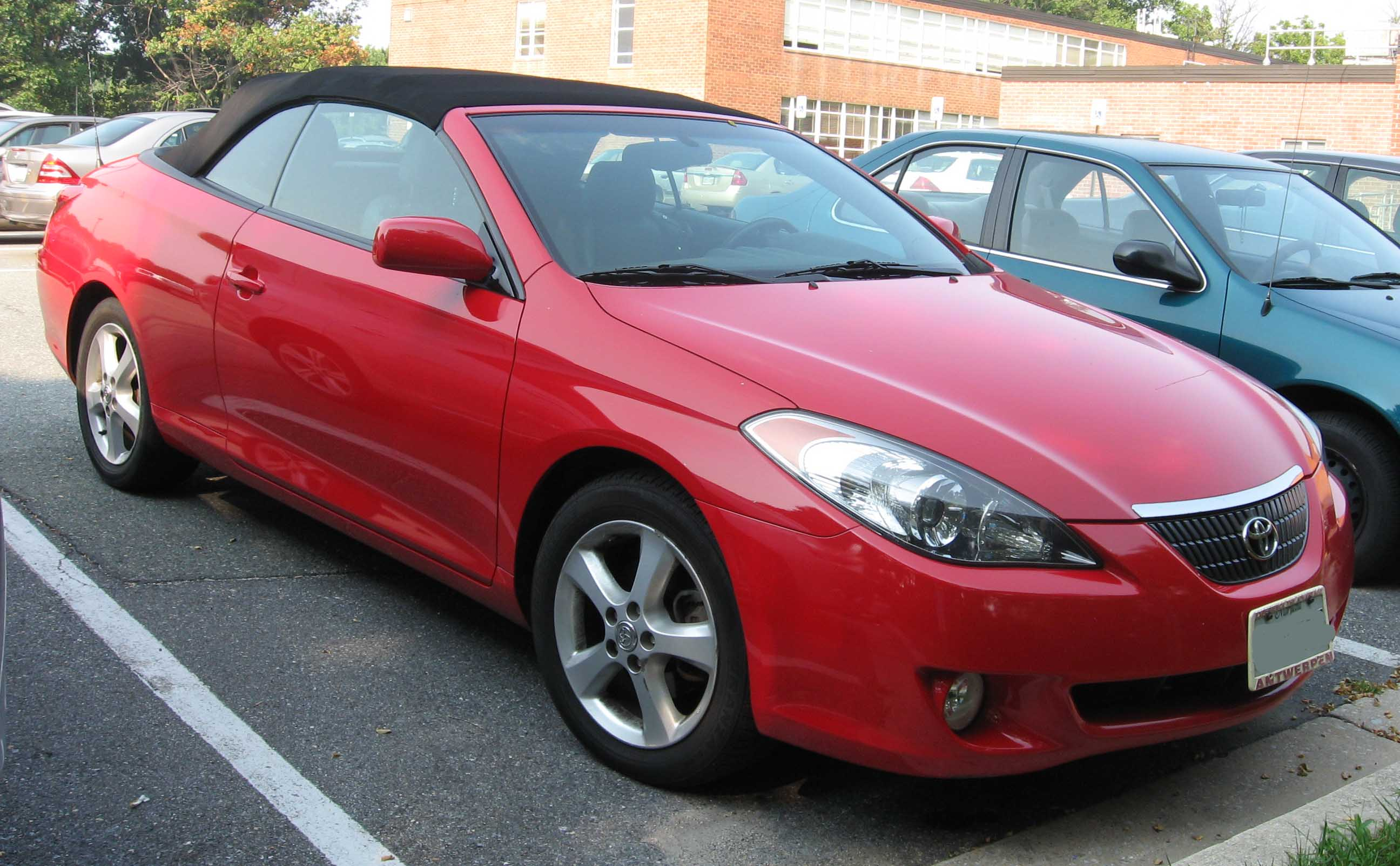 TOYOTA CAMRY SOLARA CONVERTIBLE red