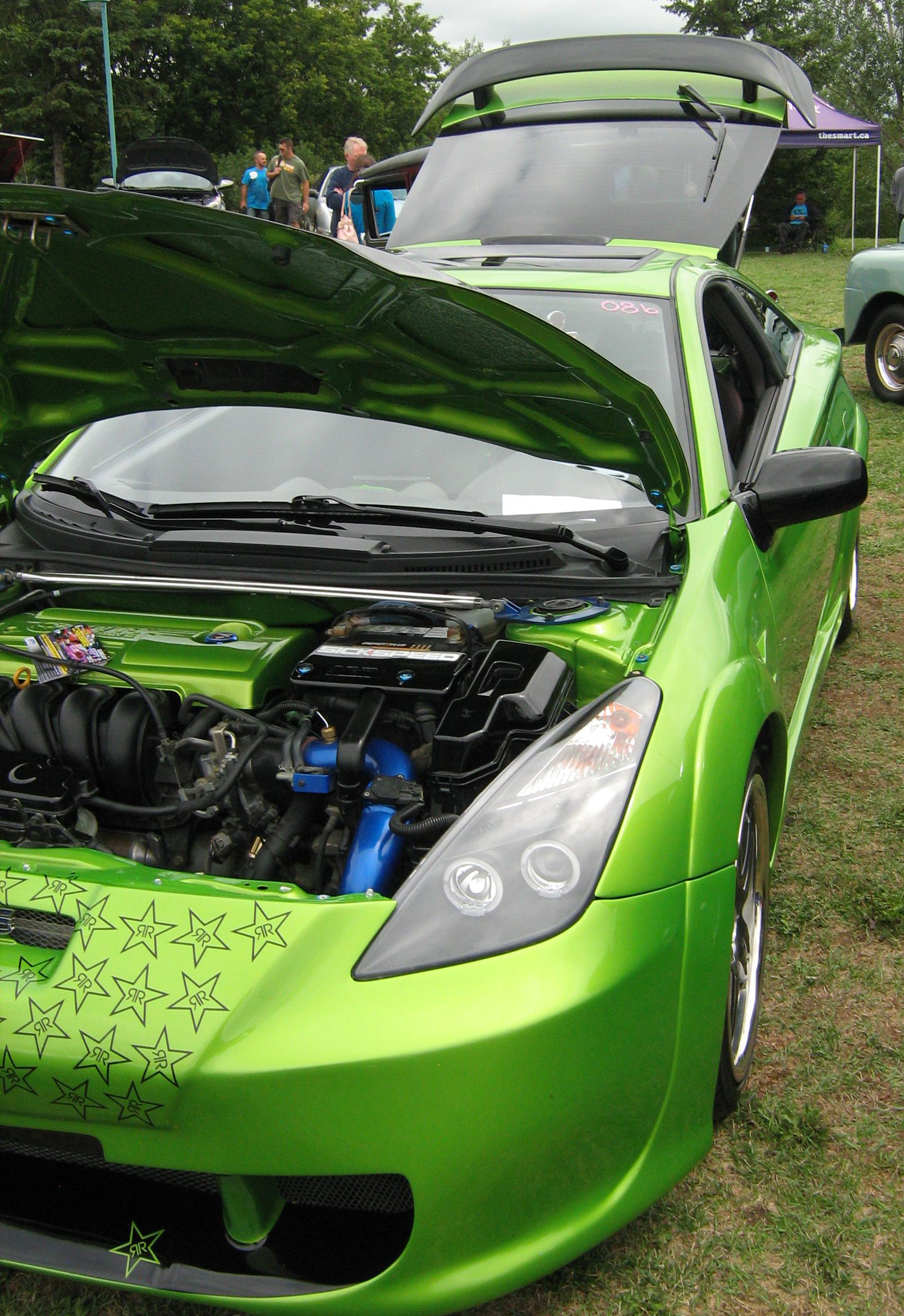TOYOTA CELICA green