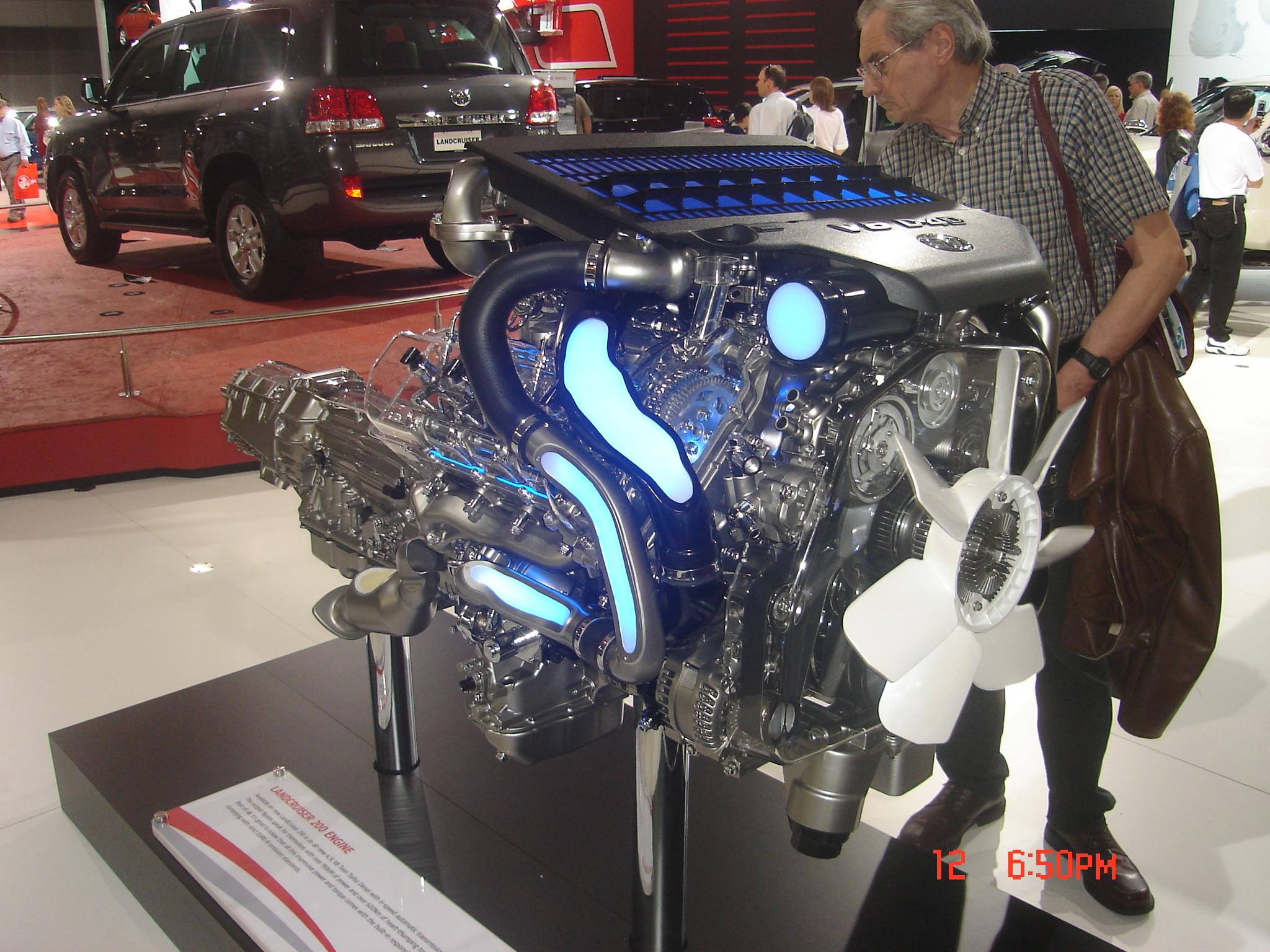 TOYOTA LAND CRUISER 200 engine