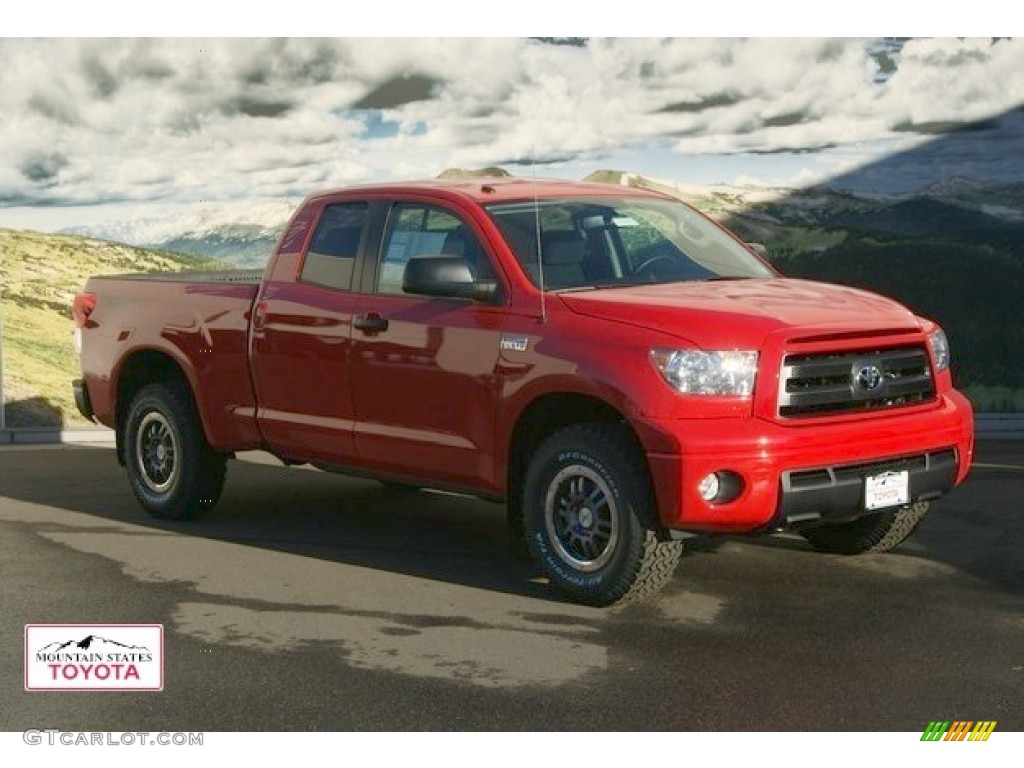 TOYOTA TRD TUNDRA red