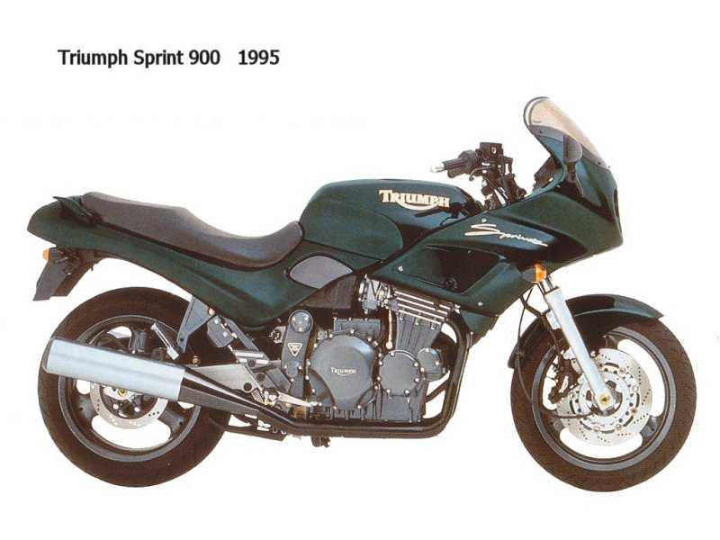 TRIUMPH SPRINT 900 green