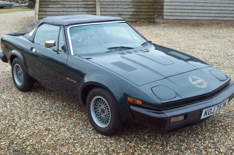 868 Triumph Tr7 black 12 on british racing green