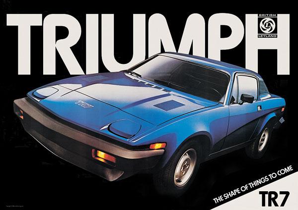 TRIUMPH TR7 blue