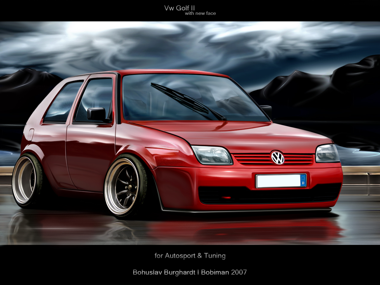 VOLKSWAGEN GOLF red