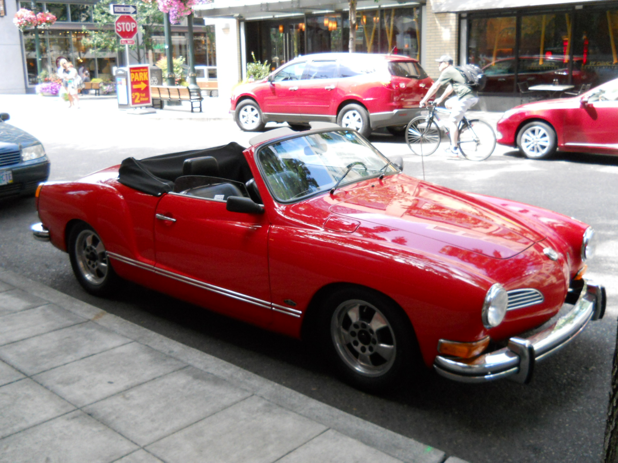 VOLKSWAGEN KARMANN CABRIOLET red