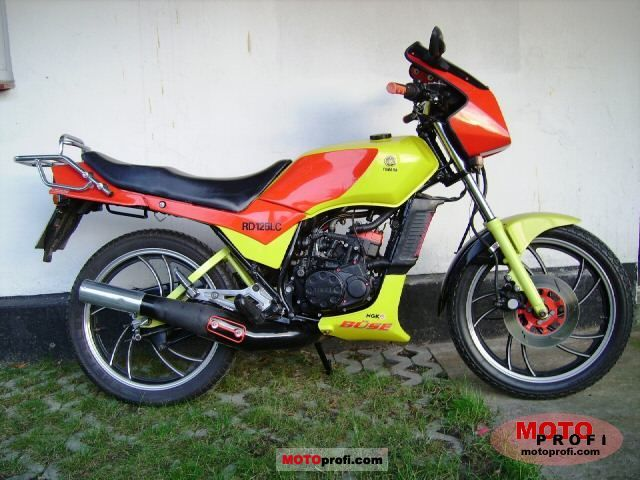 YAMAHA 125 RD brown