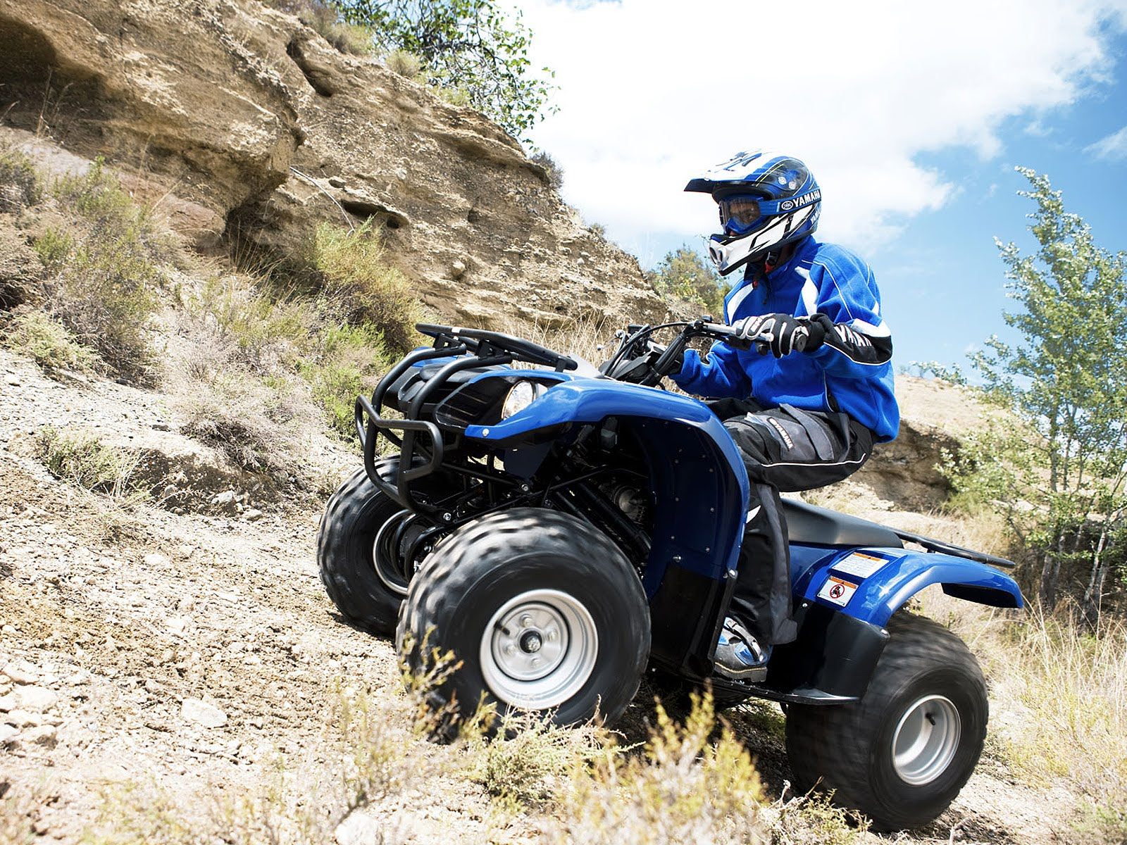 YAMAHA GRIZZLY 125 white
