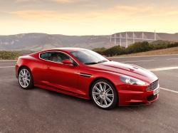 ASTON MARTIN DB9 red