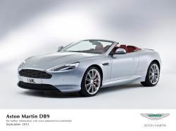 ASTON MARTIN DB9 silver